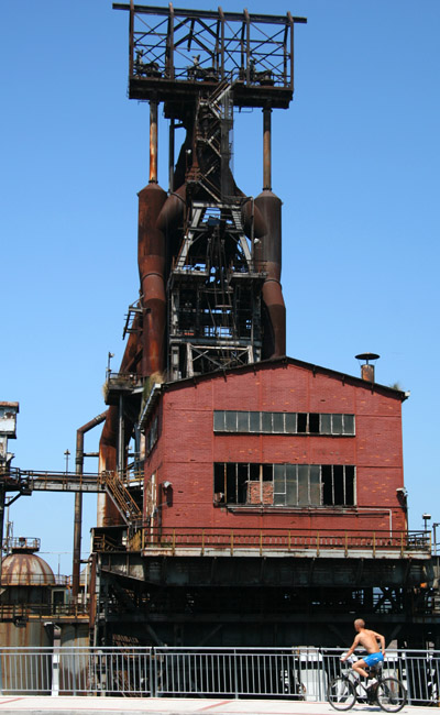 An old blast furnace in Bilbao