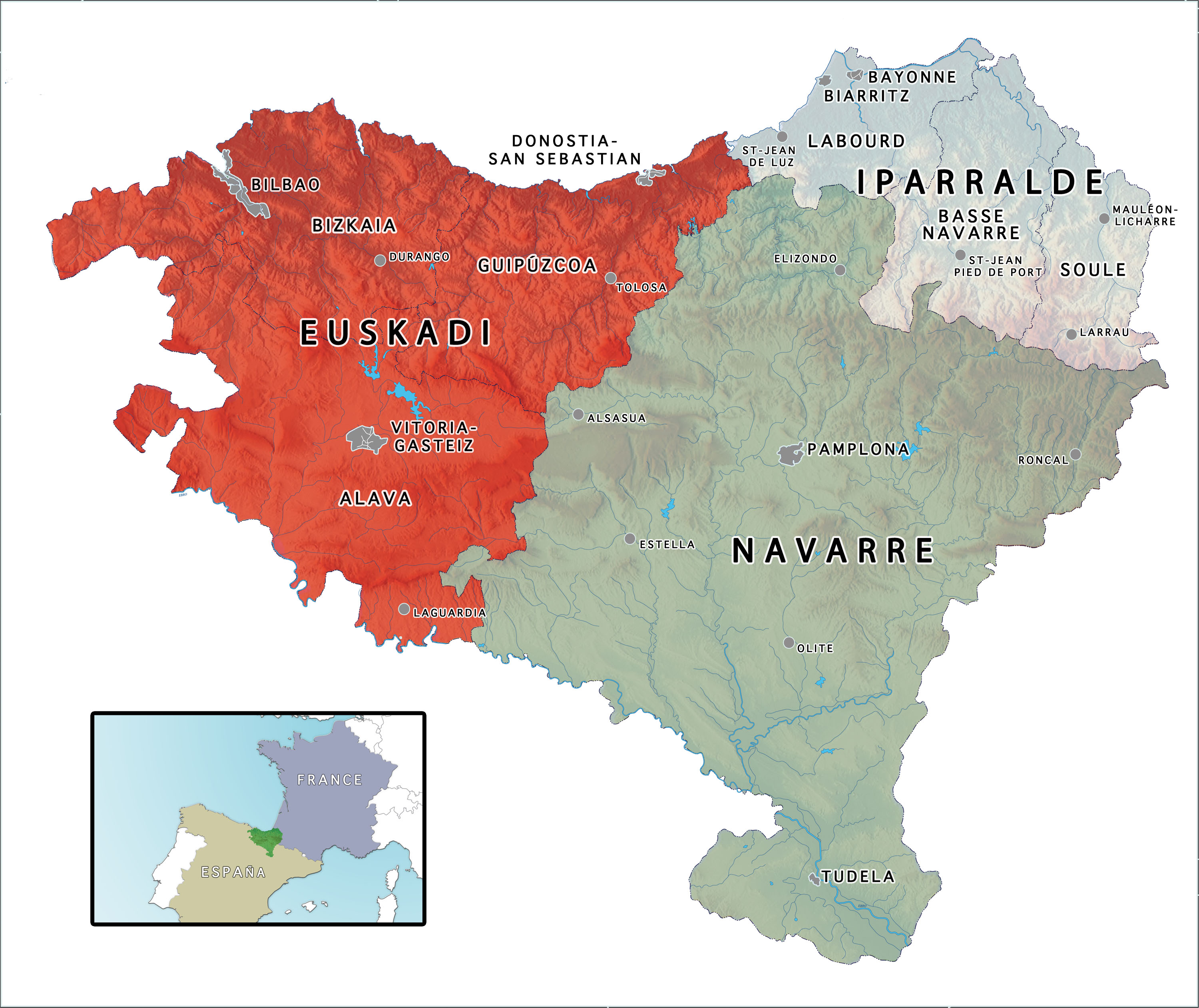 THE BASQUE COUNTRY - Map