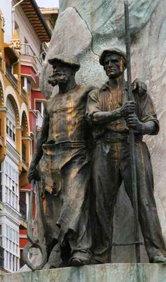 Monument representing Basque workers - Bilbao